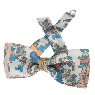 Etro printed silk peach bow tie