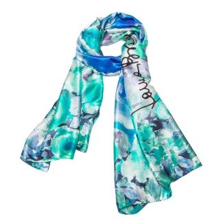 Silk Shawl Laura Biagiotti roses blu