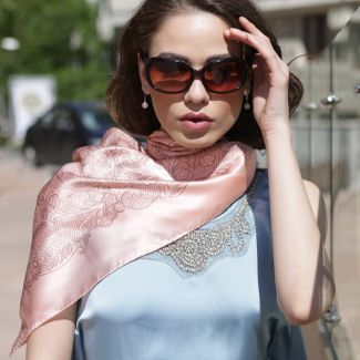 Laura Biagiotti delicate pink salmon silk scarf