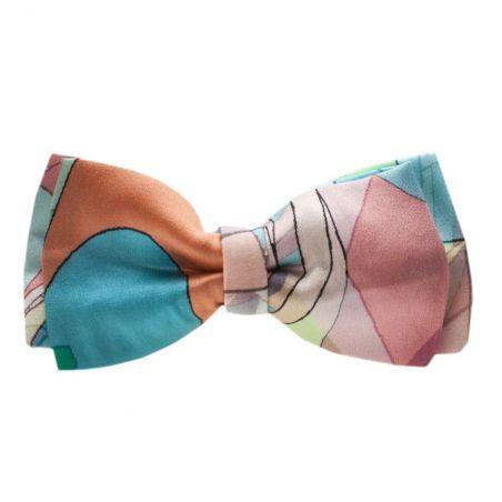 Blue Girl double bow clip