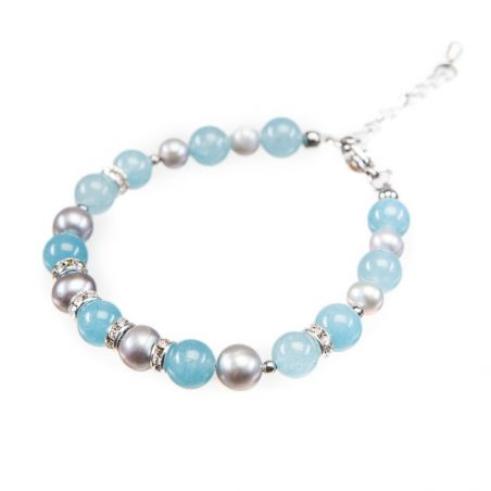 GIFT: blue scarf and bracelet Sienna Marina D`Este Angel pearls