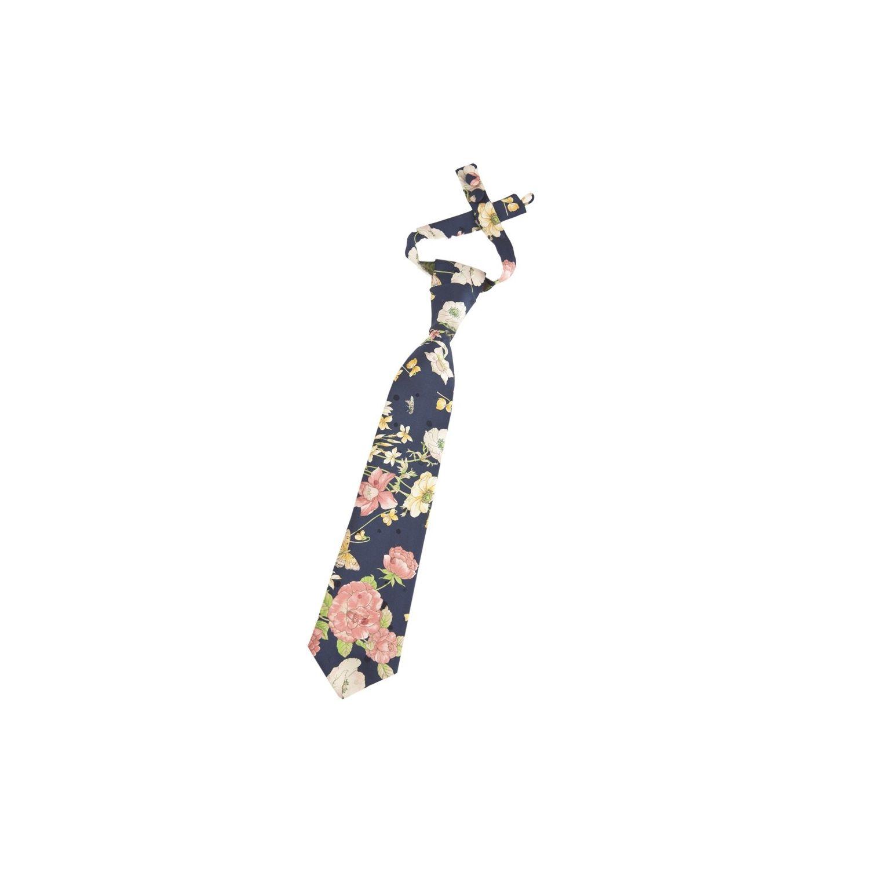 Cravată trandafiri roz blue