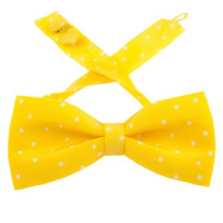 Pretty Woman bow tie on yellow