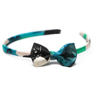 Headband cu fundita Blue Mirrors
