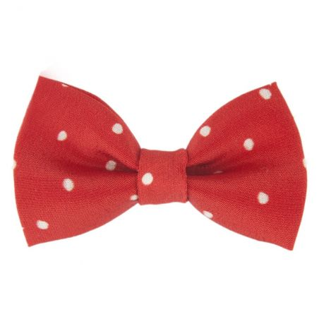 Pretty Woman bow clip on red