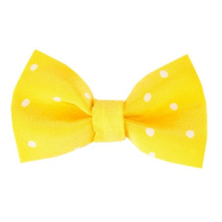 Pretty Woman bow clip on yellow