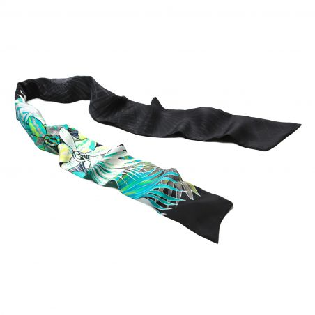 Tropical Night silk scarf