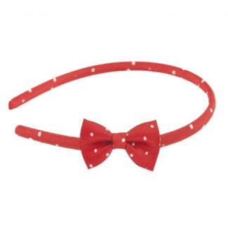 Pretty Woman bow headband on red