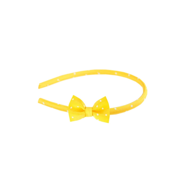 Headband cu fundiţă Pretty Woman galben