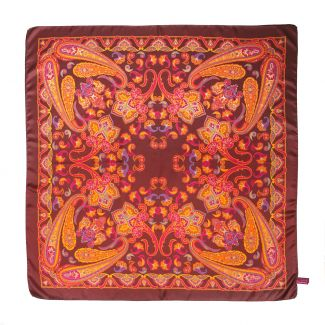 Endless Marsala Silk Scarf