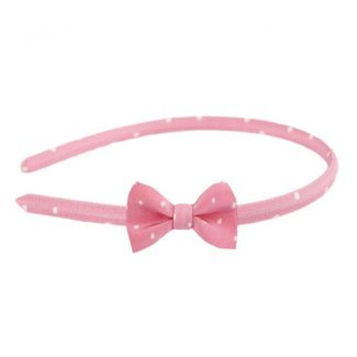 Pretty Woman bow headband on pink