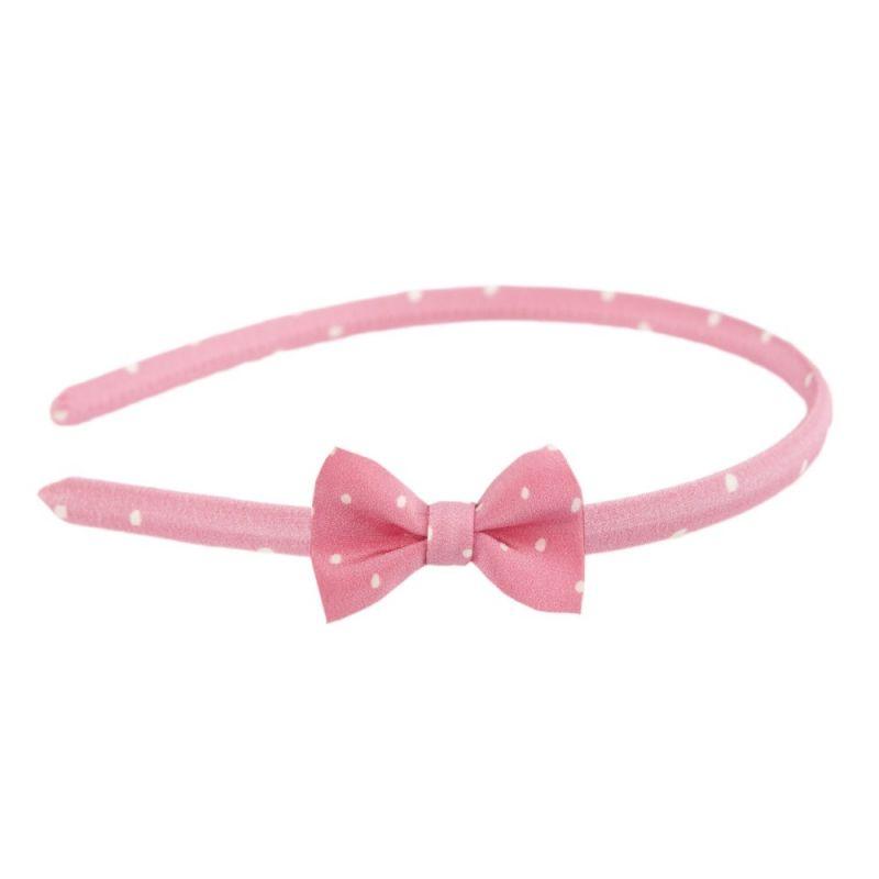 Headband cu fundiţă Pretty Woman roz