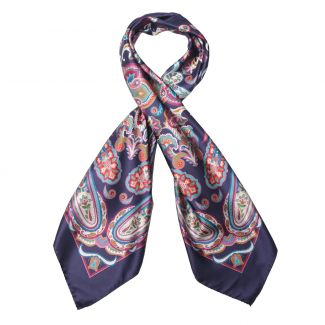 Endless Navy Silk Scarf