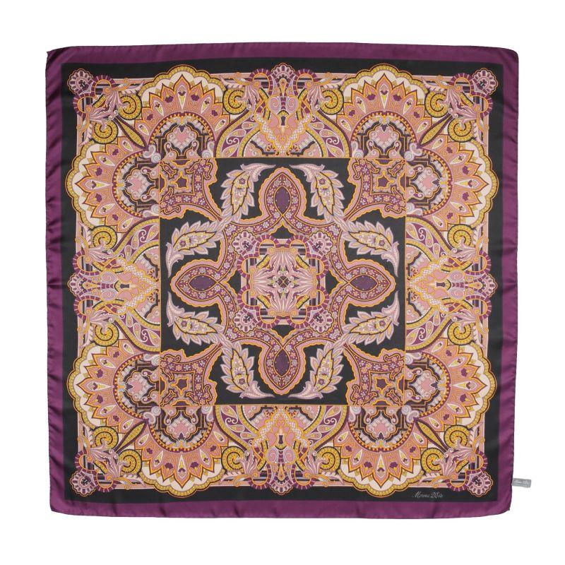 Carnaby Street Purple Silk Scarf