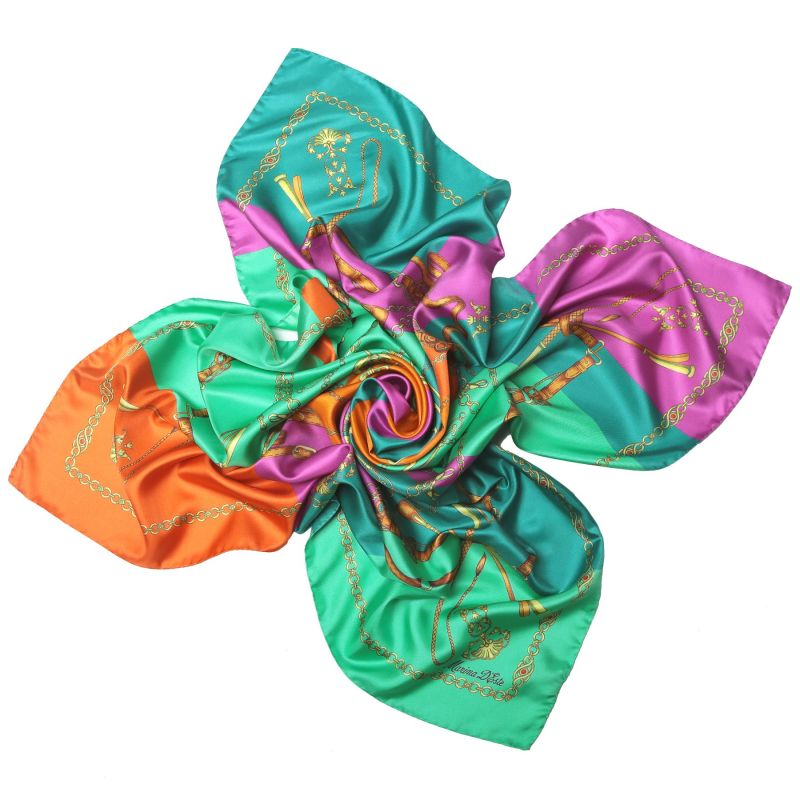 Lovely Touch Emerald silk scarf
