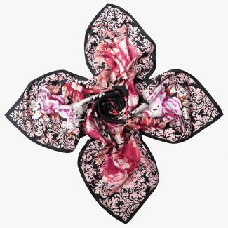 Manon Black silk scarf