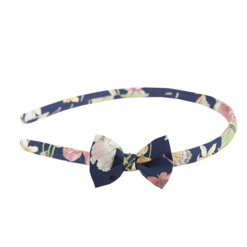 Headband cu fundiţă trandafiri roz