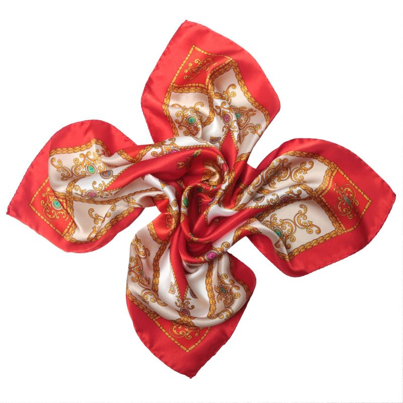 Jewellery Red silk scarf