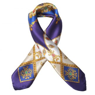 Jewellery Royal Purple silk scarf