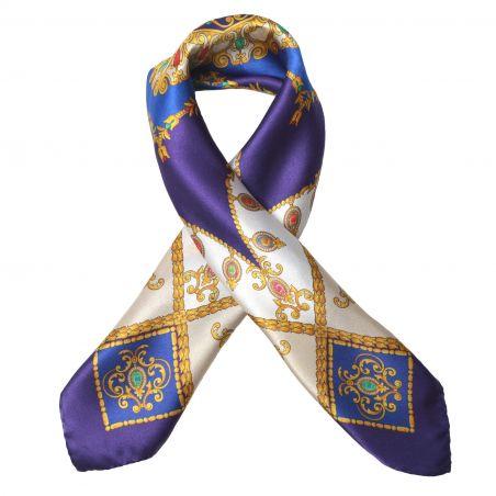 S M. Schon Jewellery Royal Purple Silk Scarf