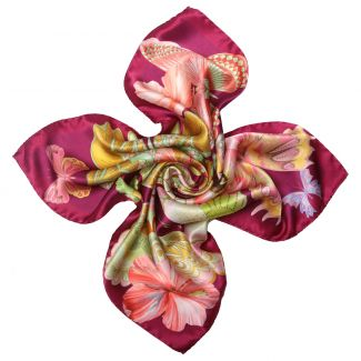 Emozioni Purple silk scarf