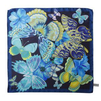 Emozioni Navy silk scarf