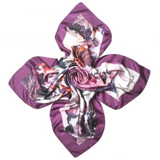 Purple Scent silk scarf