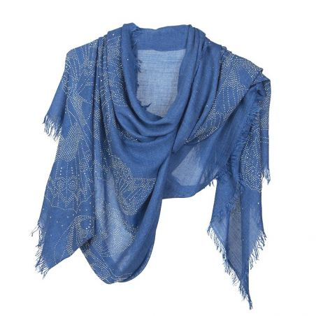 Blue butterfly strass shawl