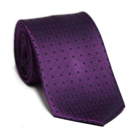 Cravata matase L. Biagiotti violet conabiu Celebration