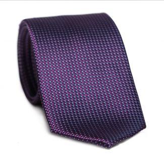Cravata matase L. Biagiotti patrate violet Executive