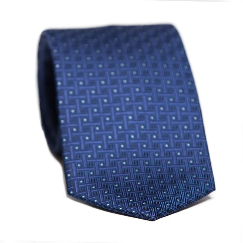 Cravata matase L. Biagiotti albastru safir Executive