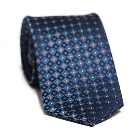 Cravata matase L. Biagiotti romburi navy Executive