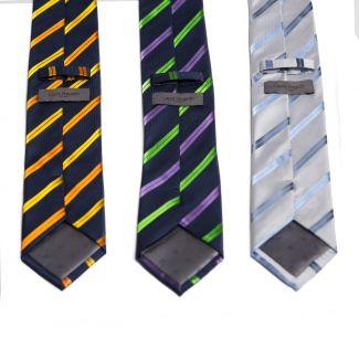 Cravata matase L. Biagiotti gri cu dungi Executive
