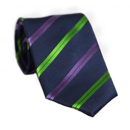 L. Biagiotti silk tie green strips