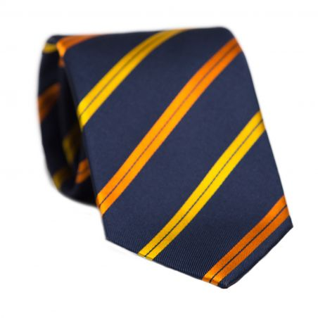 L. Biagiotti silk tie orange stripes