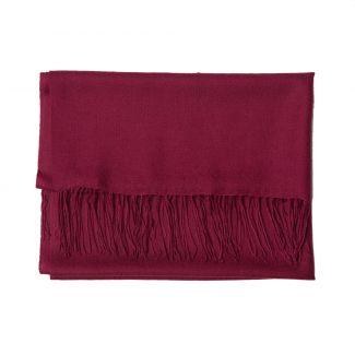 Wool scarf Mila Schon plum purple