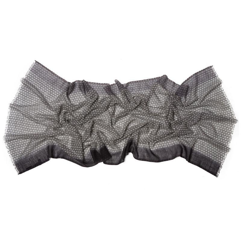 Esarfa lana Mila Schon unisex black grey pattern
