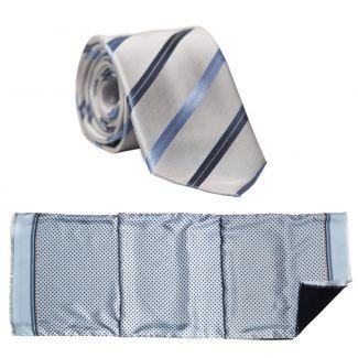 Cadou: Esarfa si cravata matase L. Biagiotti smart print