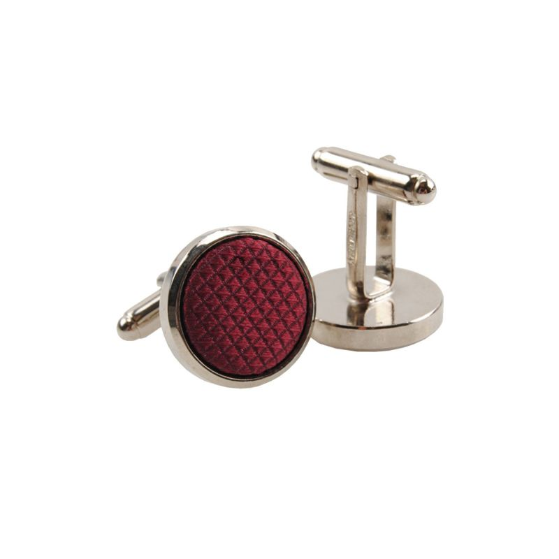 Silk and stainless steel bordo men cufflinks