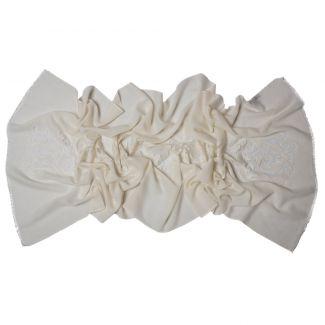 Esarfa eleganta lana Mila Schon Ivory