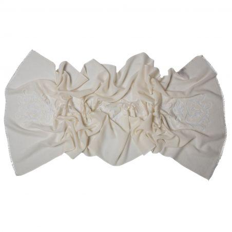 Wool scarf Mila Schon Ivory