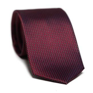 Cadou: Cravata matase L. Biagiotti patrate rosu inchis Executive si butoni inox si matase bordo