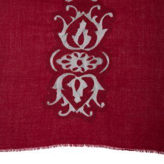 Esarfa eleganta lana Mila Schon Dark Red