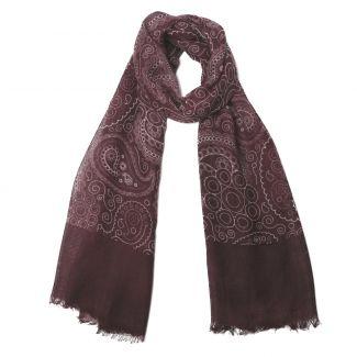 Wool scarf Mila Schon paisley purple