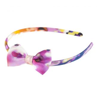 Headband cu fundiţă Violet Dreams