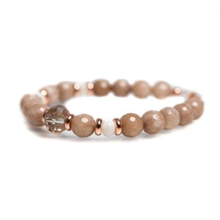 Coffee agate bracelet