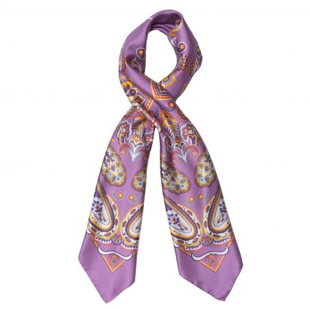 Endless Lilac Silk Scarf