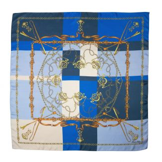 Lovely Touch Blue silk scarf
