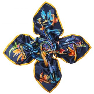 Fantasy Navy silk scarf