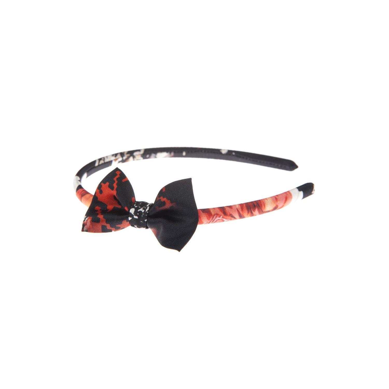 Headband cu fundiţă rouge et noire